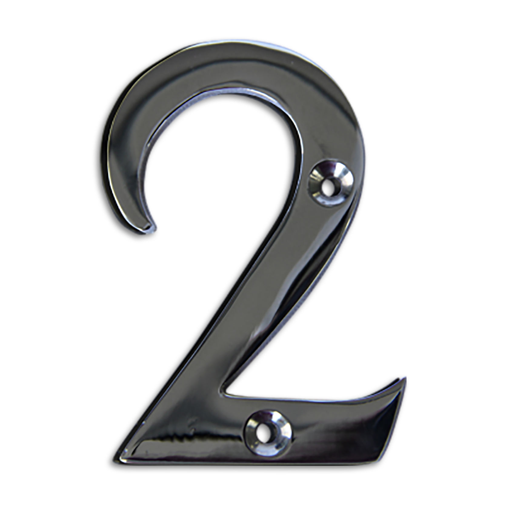 Polished chrome 3 inch house numbers letters rch for 3 inch black metal letters