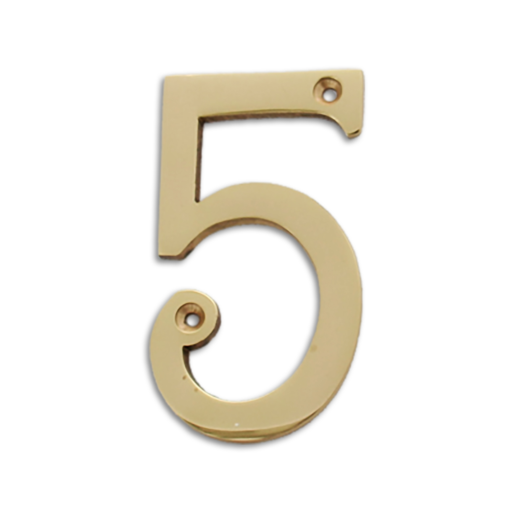Polished brass 4 inch house numbers letters rch supply co for House numbers